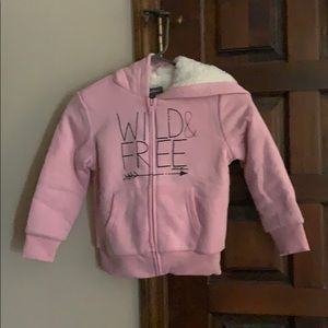 """New! Cozy """"wild & free"""" lined hoodie"""